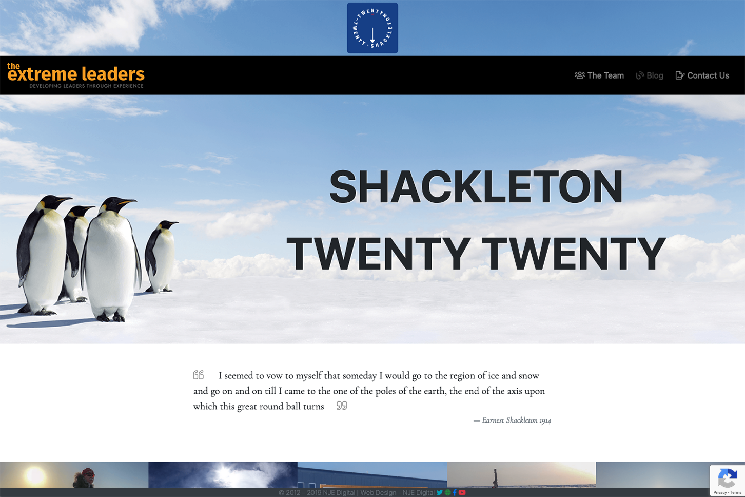 Shackleton 2020 Website